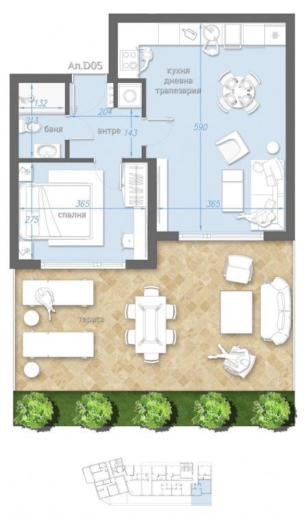 Apartament cu doua camere la mare