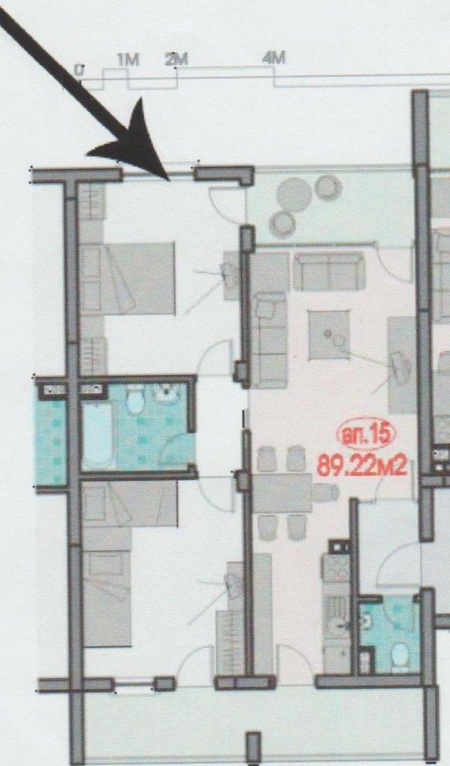 Apartament cu doua dormitoare in Sf. Vlas