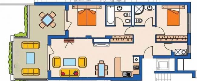 Pret atractiv - apartament cu trei camere in complexul Kaliakria