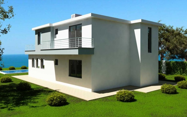 Teren cu proiect pentru casa in prima linie la mare