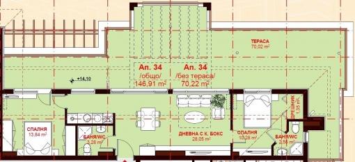 Penthouse de lux in prima linie Sf. Vlas
