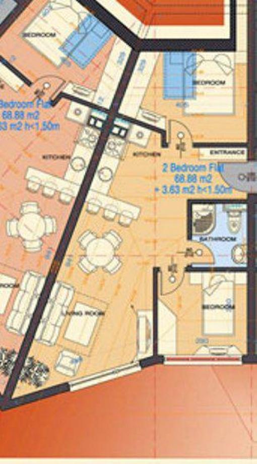 Apartament doua dormitoare cu plata in rate Bansko