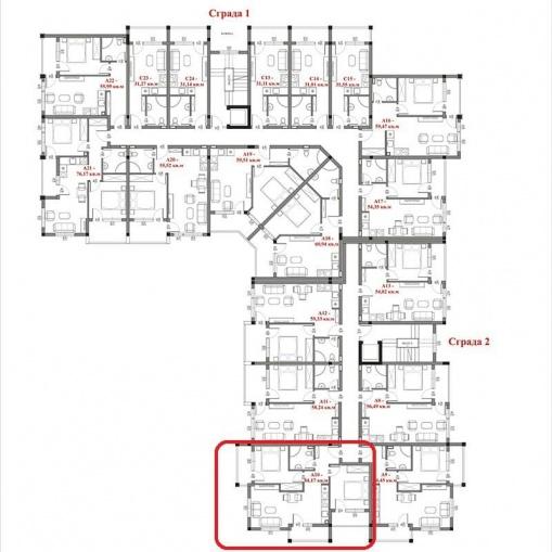 Apartament nou cu 2 dormitoare la mare in Bulgaria